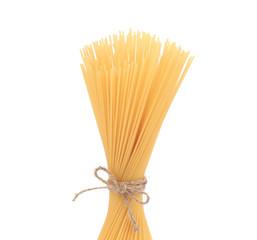 Close up of spaghetti.