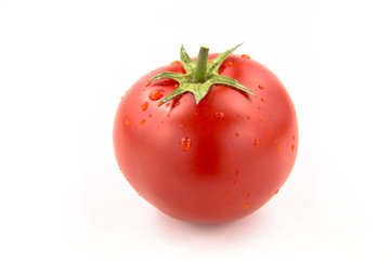 Wall Mural - Single Tomato With Water Drops - Clipping Path Inside