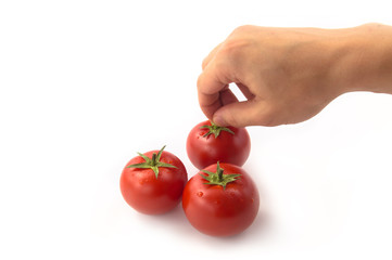 Wall Mural - Choosing Tomato - Clipping Path Inside