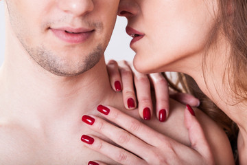 Couple having erotic moment