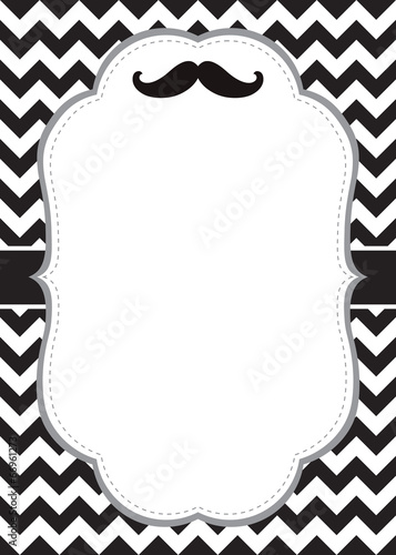 Mustache invitation card stock image and royalty free vector files mustache invitation card stopboris Images
