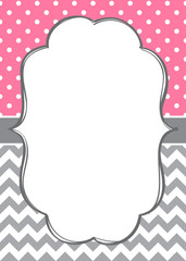 Baby girl invitation template