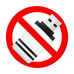 Do not use USB flash drive sign