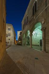 Fototapete - Night Scene of Pienza, Tuscany, Italy
