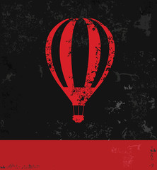 Balloon symbol,grunge vector