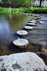 Line of Circular Stepping Stones