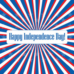 Happy Independence Day USA! Greeting card.