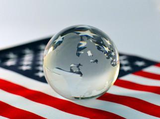 America, flag, ball, globe.