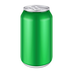 Green Metal Aluminum Beverage Drink Can