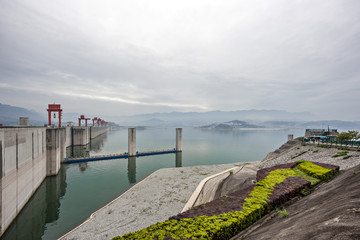 Three Gorges Dam along the Yangtze River in China