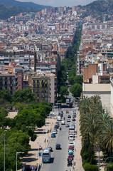Straßenschlucht Barcelona Marina