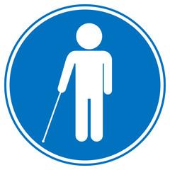 Blind disabled sign