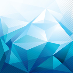 Abstract Blue Polygon Background