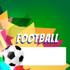 abstract style football design