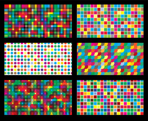 colorful background geometric seamless repetitive vector graphic
