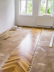 parquet laying