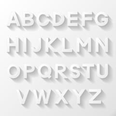 Graphic alphabet set