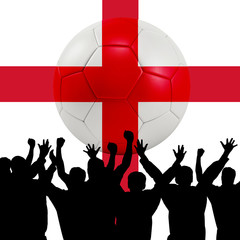 Mass cheering with England Soccer ball