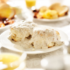 biscuits with sausage gravy