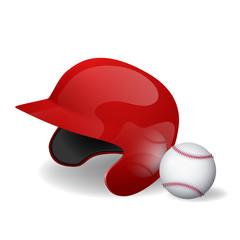 Baseball helmet and baseball