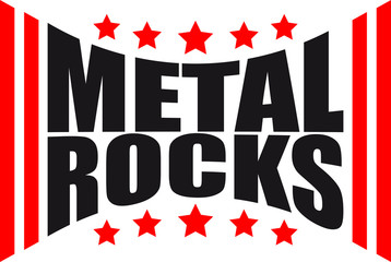 Cool Metal Rocks Design