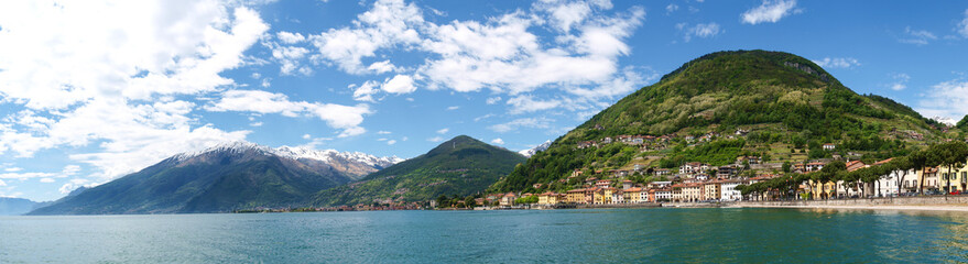 Lake of Como from the waterfront of Domaso