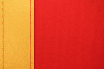 golden and red design paper