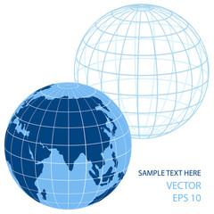 color vector earth globe icon