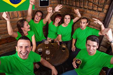 Brazilian Sport fans In Pub