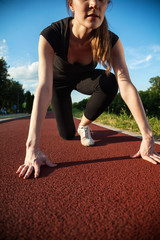 Woman On Jogging Track