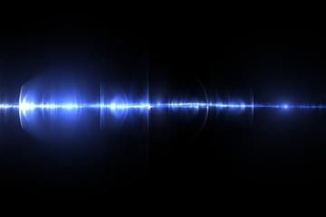 Blue laser beam