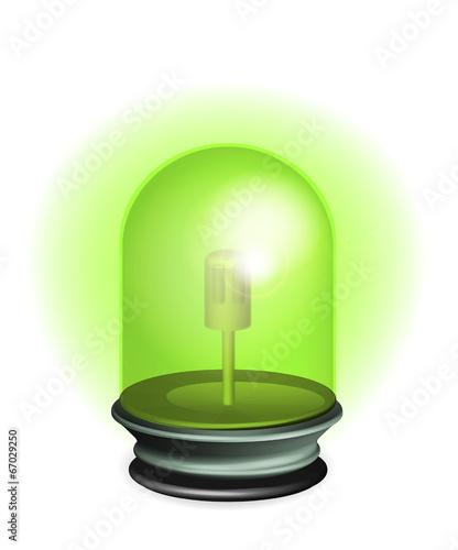 gyrophare vert illustration vecteurs fichier vectoriel libre de droits sur la banque d 39 images. Black Bedroom Furniture Sets. Home Design Ideas