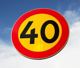 40-skylt