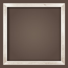 natural square size white wooden frame