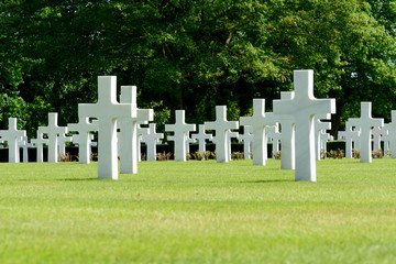 US Military graves in World War Two cemetery