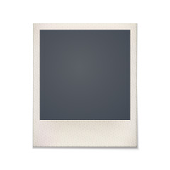 Blank retro photo frame. Vintage