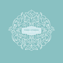 Vector abstract wedding monogram
