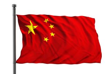 Foto auf Acrylglas China Flag of China