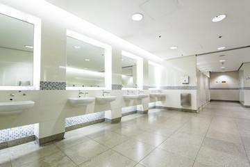 interior of private restroom