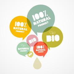 100 % BIO - Natural Transparent Vector Bubbles