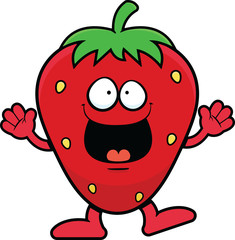 Cartoon Strawberry Happy