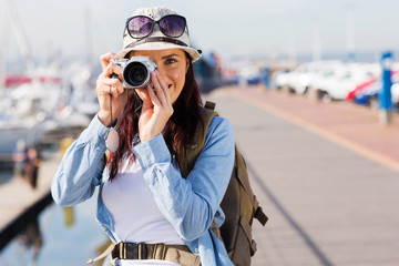 tourist taking a photo