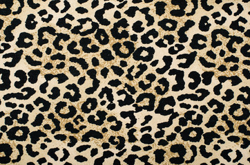 Brown and black leopard pattern.Animal print as background.