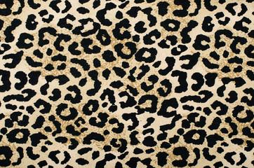 In de dag Luipaard Brown and black leopard pattern.Animal print as background.