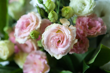 The splendid , large bunch of roses