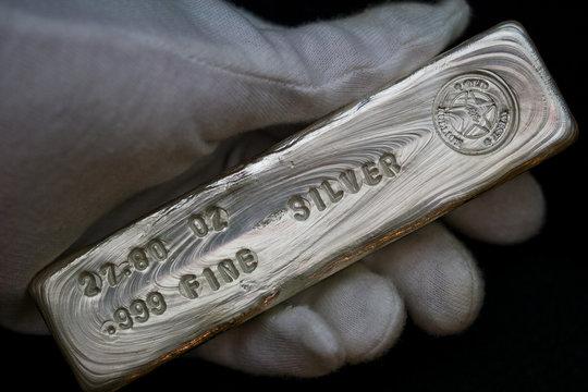 27.80 Troy Ounce Silver Bullion Bar