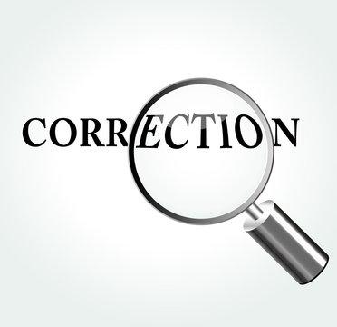 Vector correction concept illustration