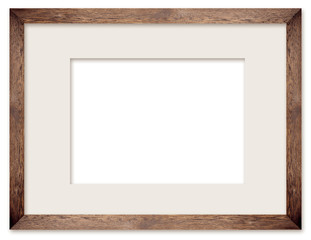 natural wooden photo frame with cut board