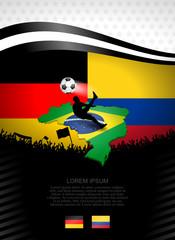 plakat fussball deutschland-kolumbien I