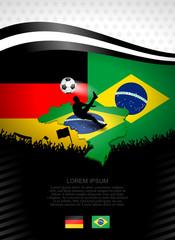 plakat fussball deutschland-brasilien I